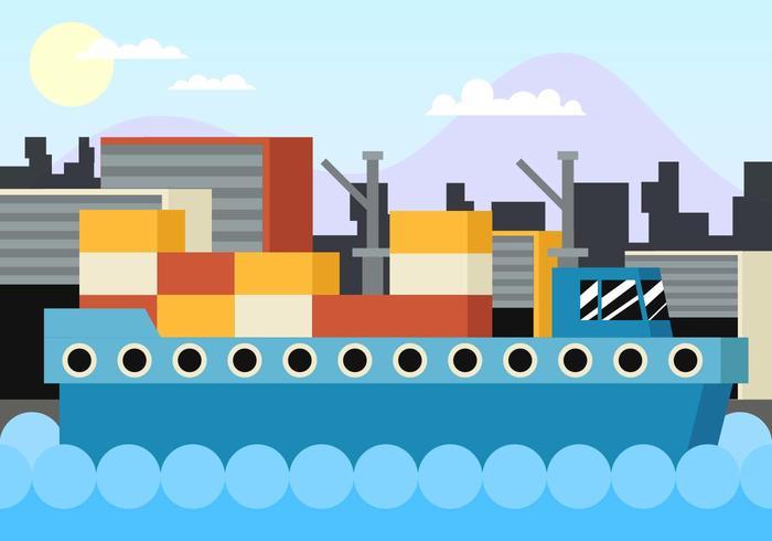 Shipyard Flat Illustration Vector