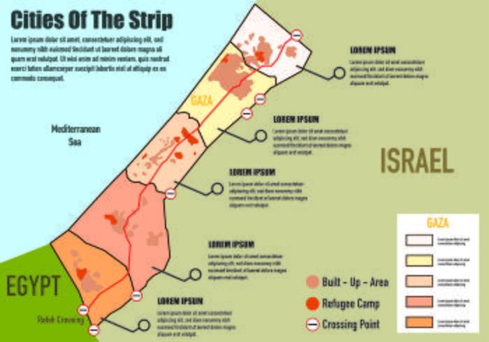 Mapa de Gaza Infografía