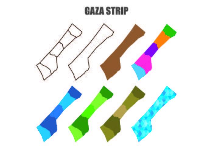 Gaza Map Vectors