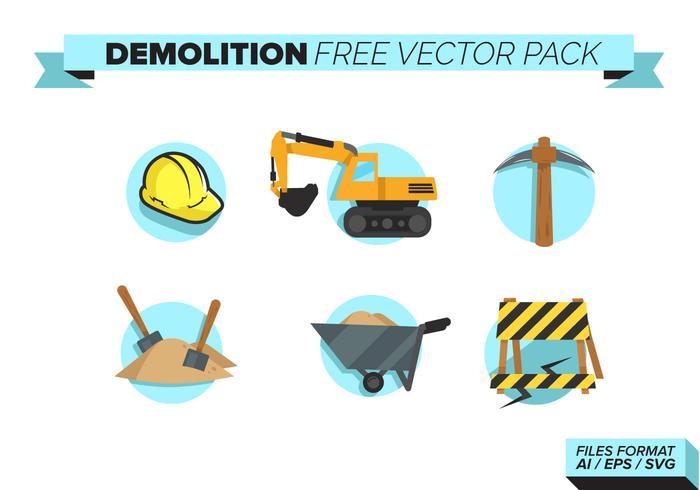 Demolición Libre Vector Pack