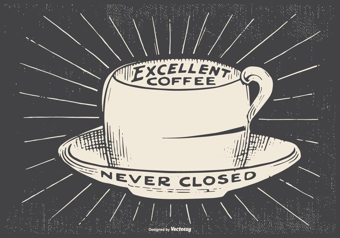 Ilustración Retro Café Estilo
