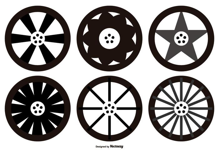 Alloy Wheel Vector Shapes