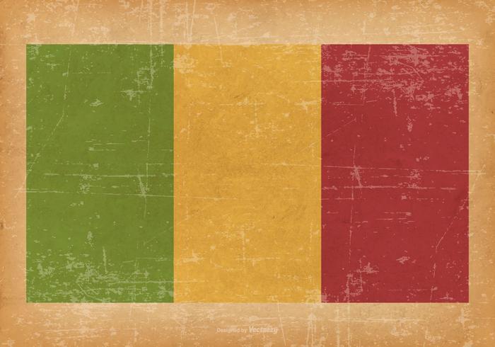 Bandiera del Mali del grunge vettore