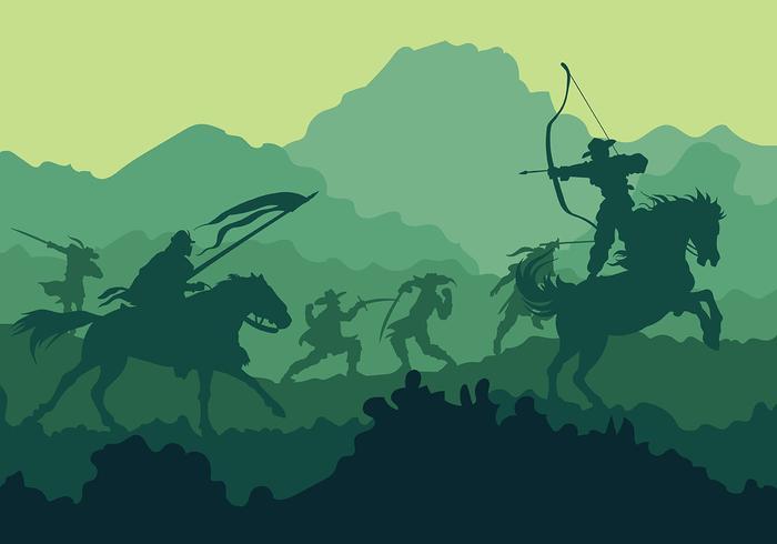Cavalry Vector Background