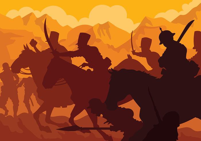 Fundo do vetor de cavalaria