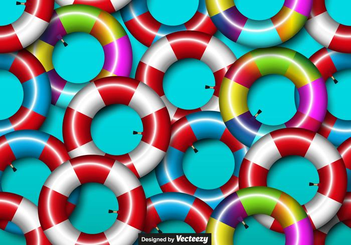 Vector Colorful Seamless Inner Tube Icon Seamless Pattern
