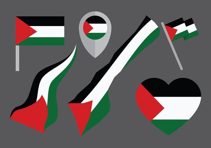 Iconos del vector de Gaza