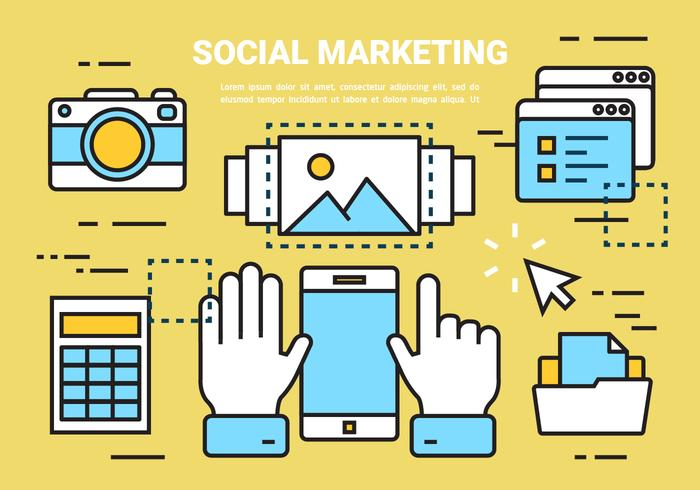 Free Linear Social Marketing Elements