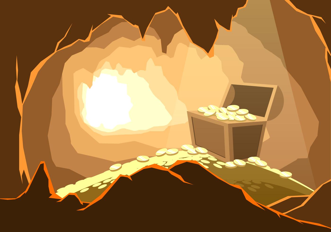 Treasure In The Cavern Free Vector Download Free Vectors