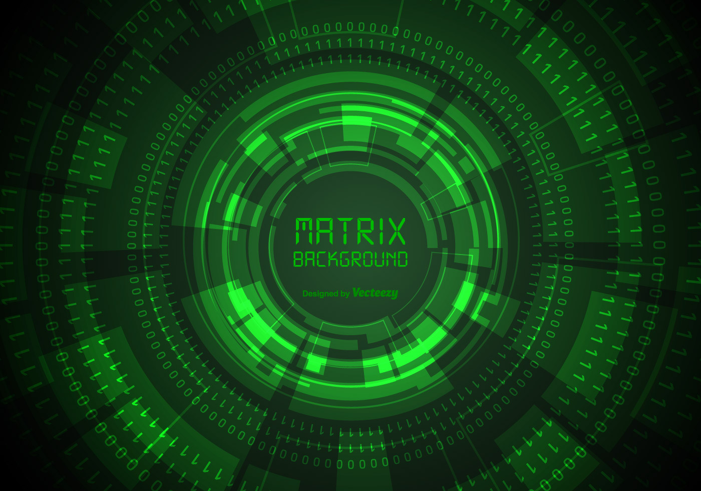 Green matrix background with binary and hud elements - Binary background gif ...