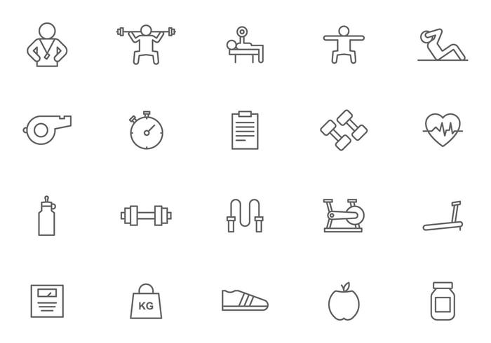 Personal Trainer and Fitness Vectors