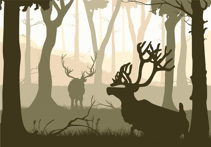 Caribou Silhouette Free Vector