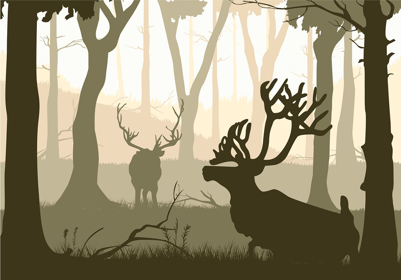 Caribou Silhouette Free Vector Download Free Vectors