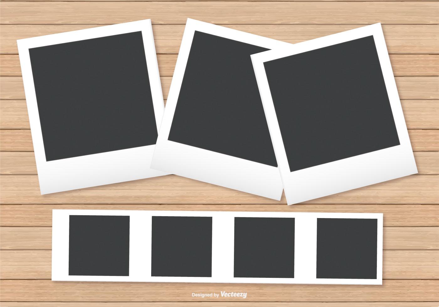 Polaroid Rahmen auf Holz Hintergrund - Kostenlose Vektor-Kunst ...