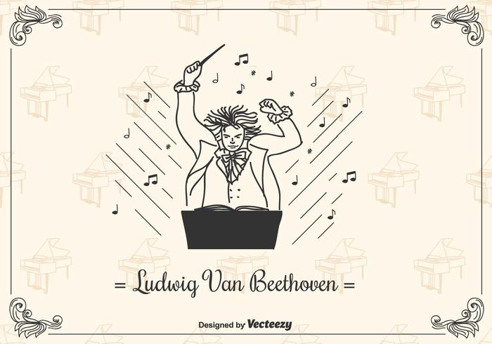 Beethoven Vector Background