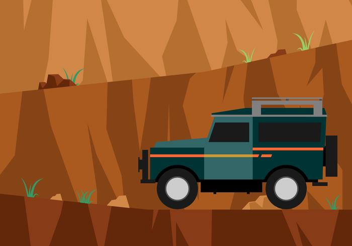 Road To The Top Of The Cliff Vector
