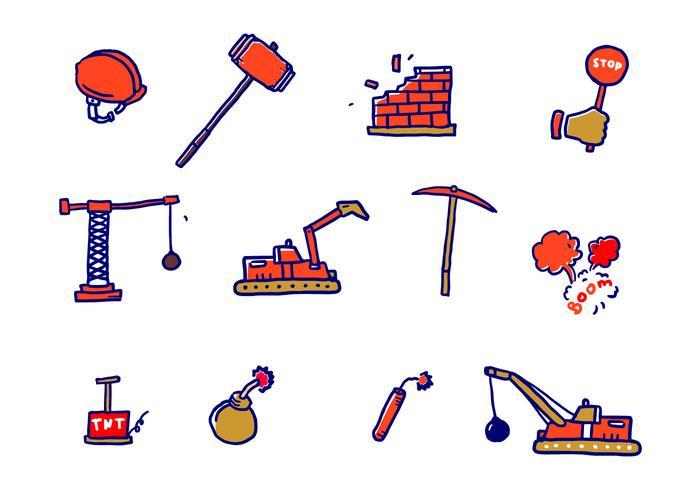 Demolition Vector Icons