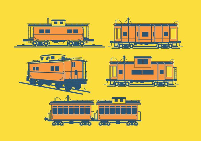 Caboose Yellow Vector