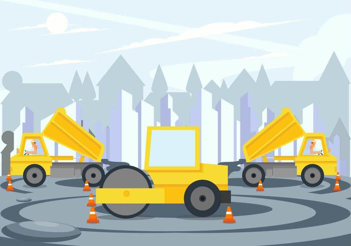 Road Construction Project Vector