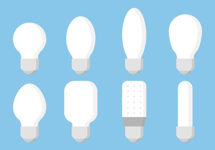 Bulbos planos vector