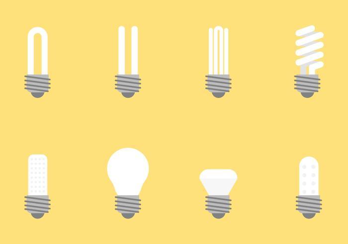 Flat Bulb Vectors