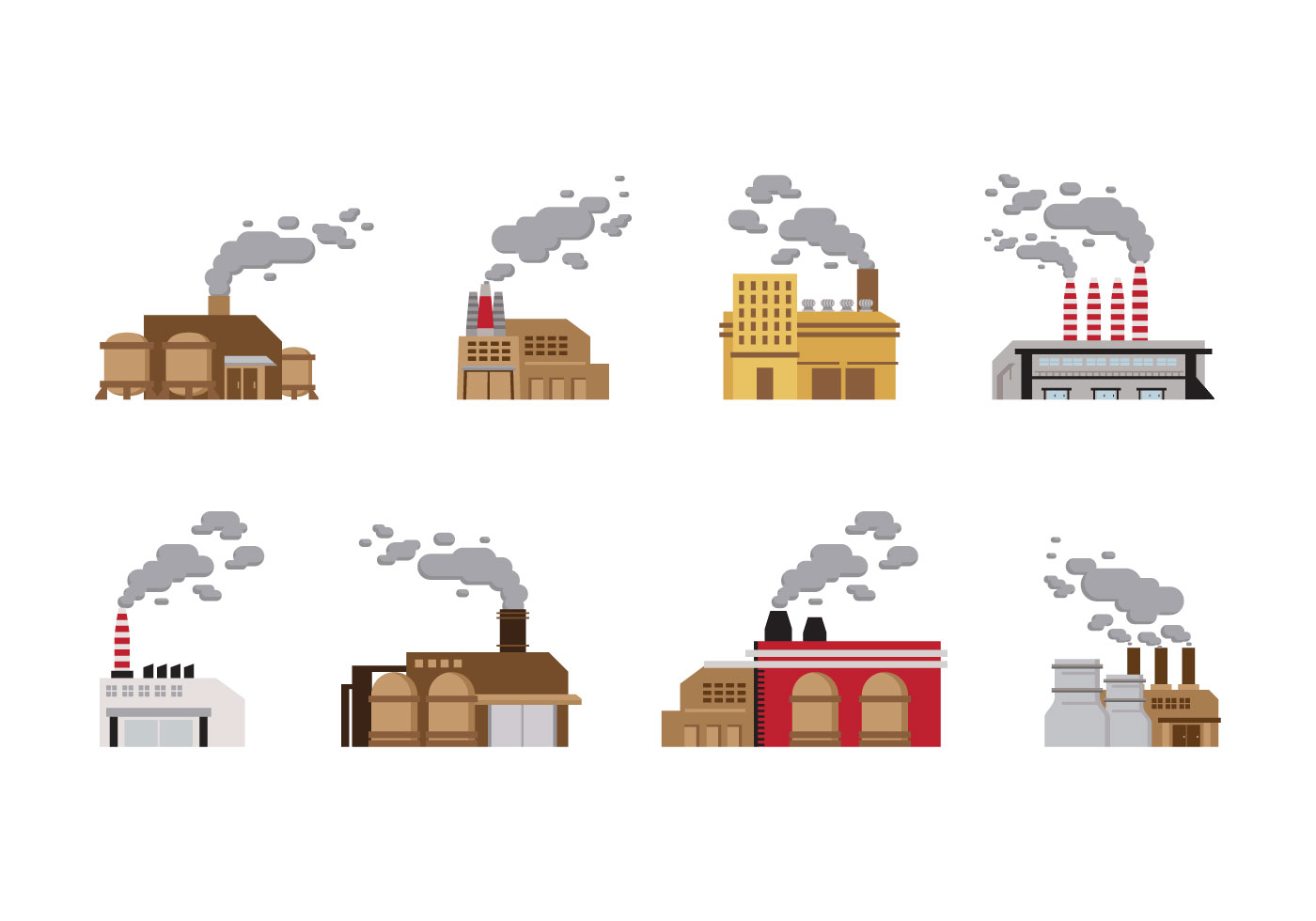 smoke stack industry vector download free vector art stock graphics images. Black Bedroom Furniture Sets. Home Design Ideas