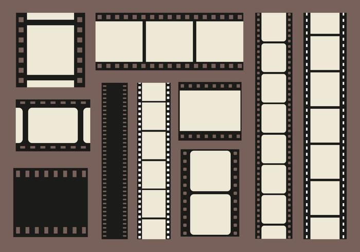 Foto de los bordes Filmstrip Vector