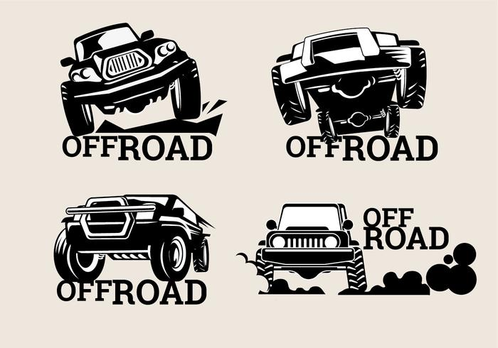 Set Off-Road Suv Logos on Brown Background