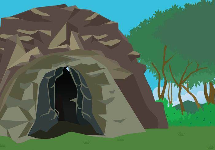 Ilustração livre da entrada da caverna