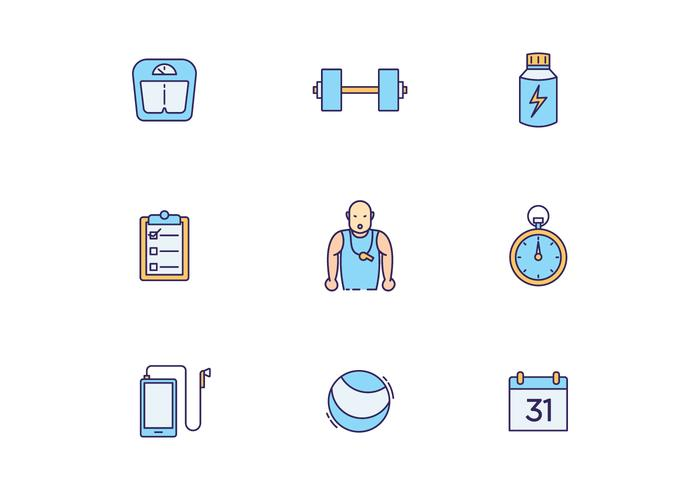 Fitness Training Icons