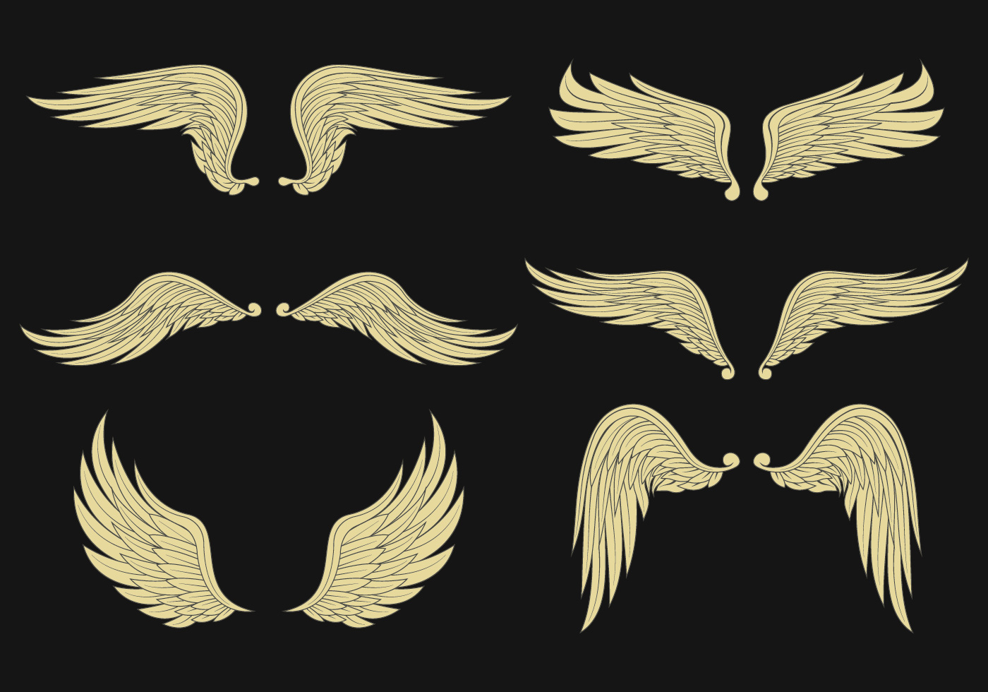 angel wings vector set download free vector art  stock angel wing vector images angel wing vector free download