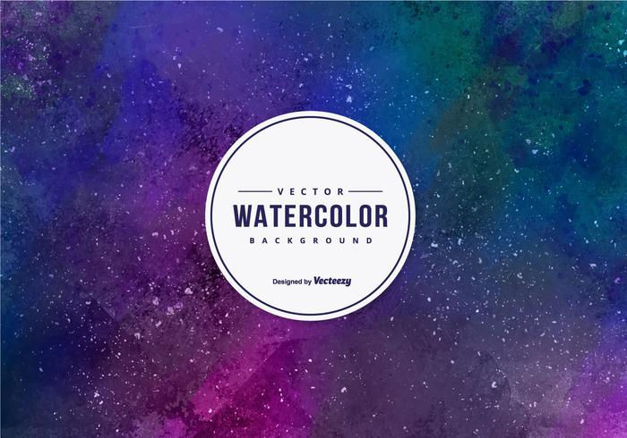 Purple Watercolor Vector Background