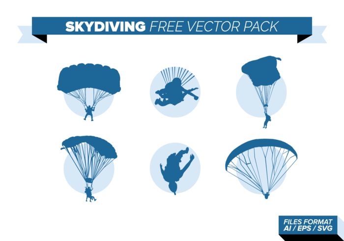 Skydiving gratis vecto pack vector