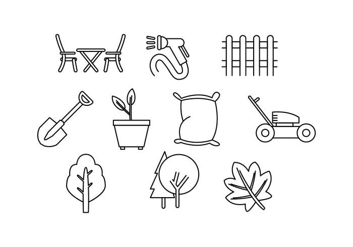 Free Lawn Care Line Icon Vector