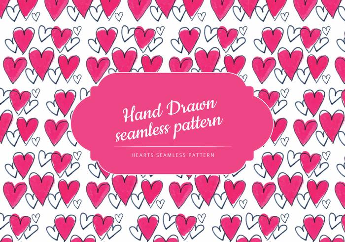 Colorful Hand Drawn Hearts Pattern