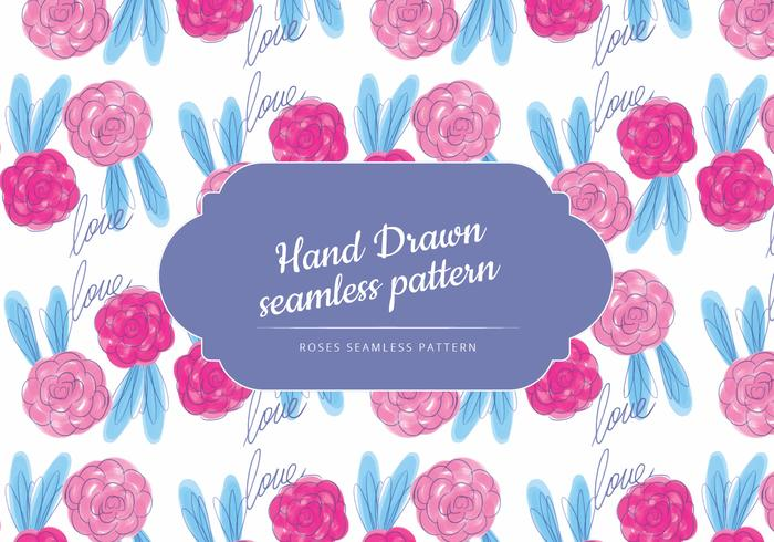 Hand Drawn Roses Vector Pattern Download Free Vector Art Stock