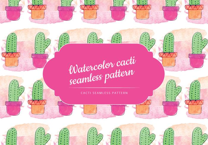 Cute Cacti Vector Pattern