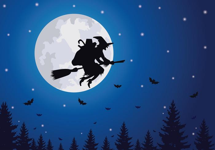 Befana Flying Free Vector