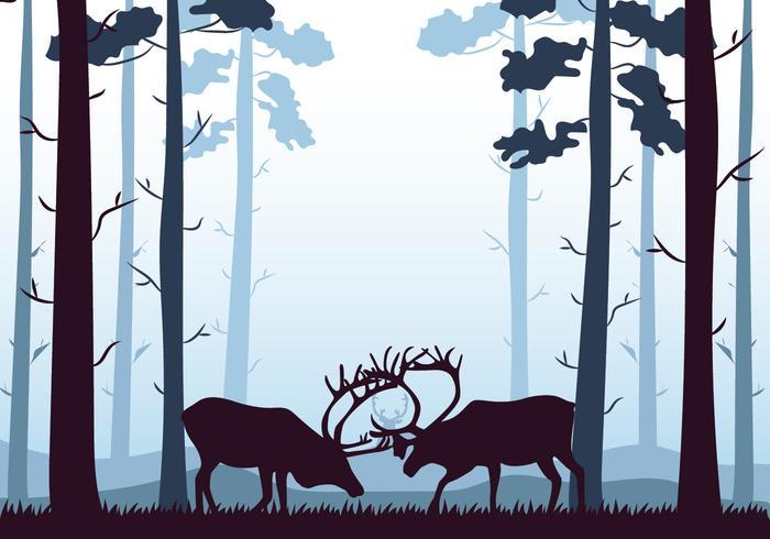 Caribou Silhouette