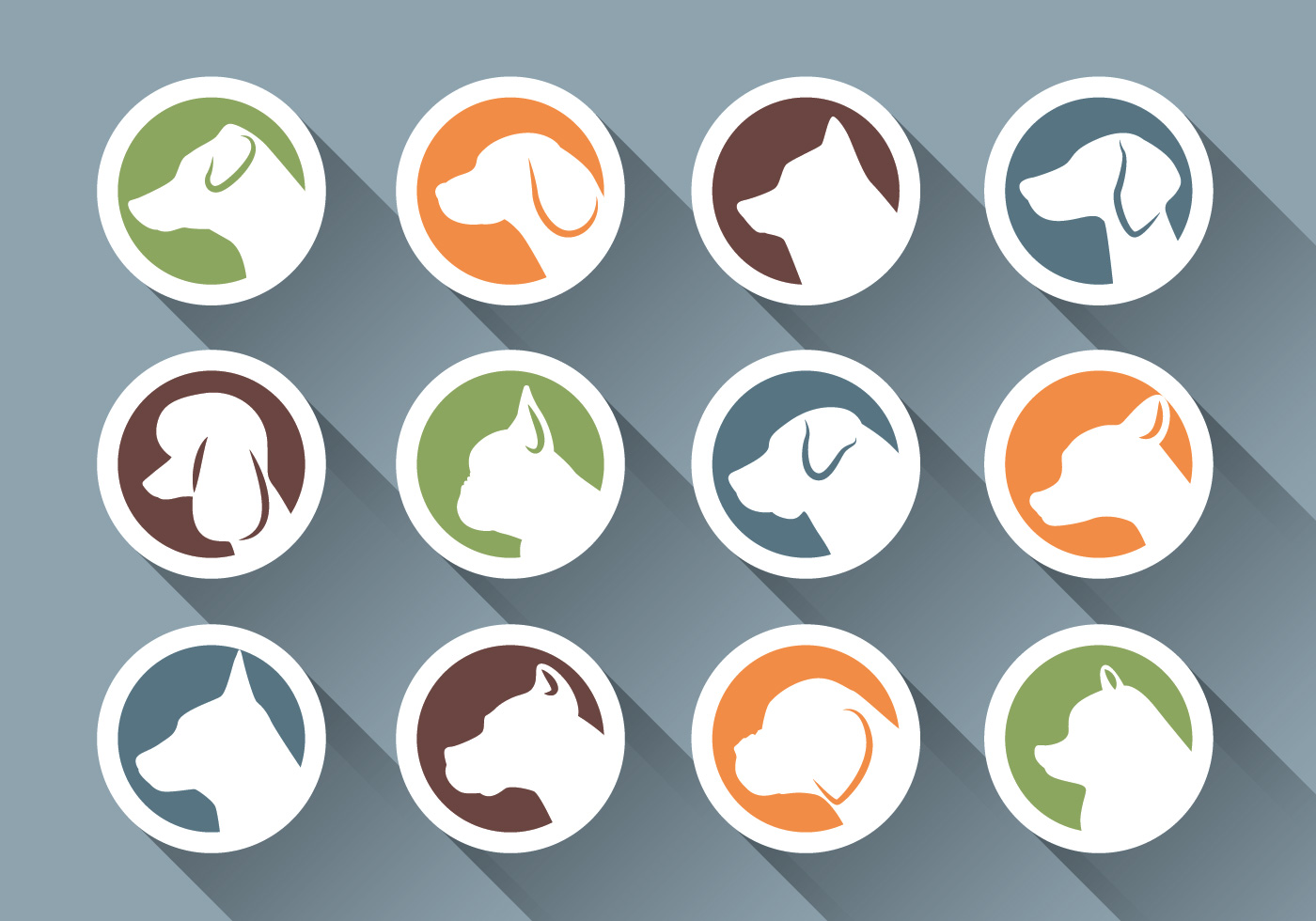 dog side face icon download free vector art stock