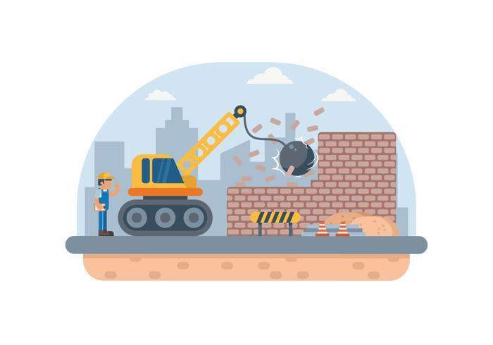 Gratis Byggnad Demolition Illustration