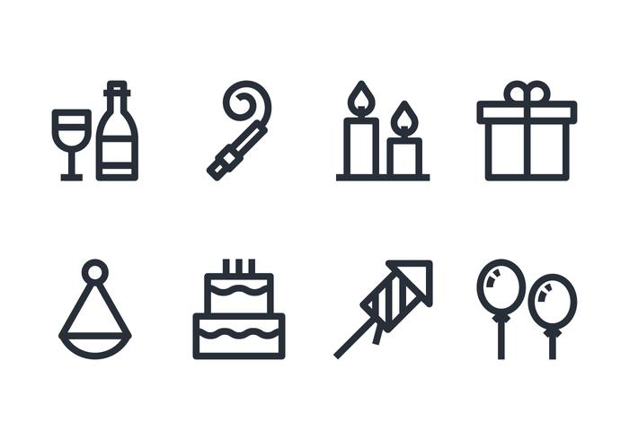 Conjunto de iconos de cumpleaños