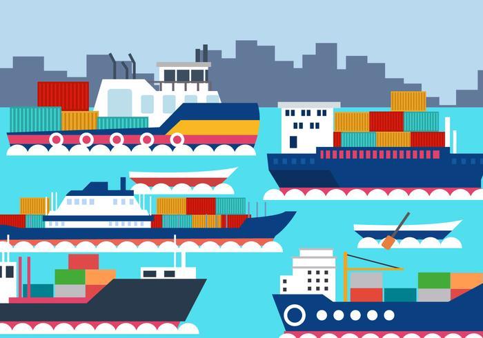 Cantiere navale sul mare