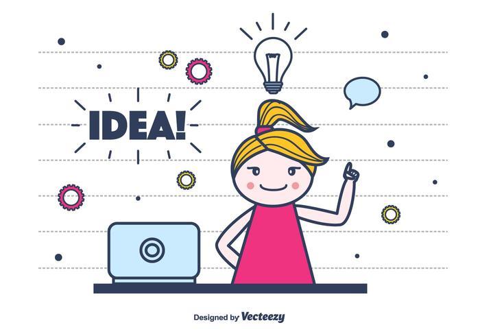 Idea Vector Background