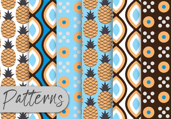 Conjunto de patrones de piña