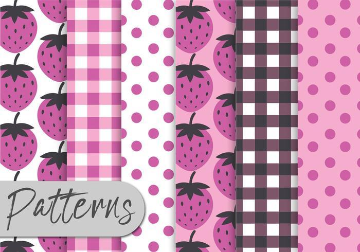 Strawberry Pink Pattern Set