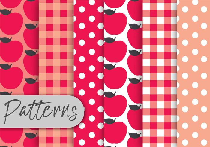 Red Apple Pattern Set
