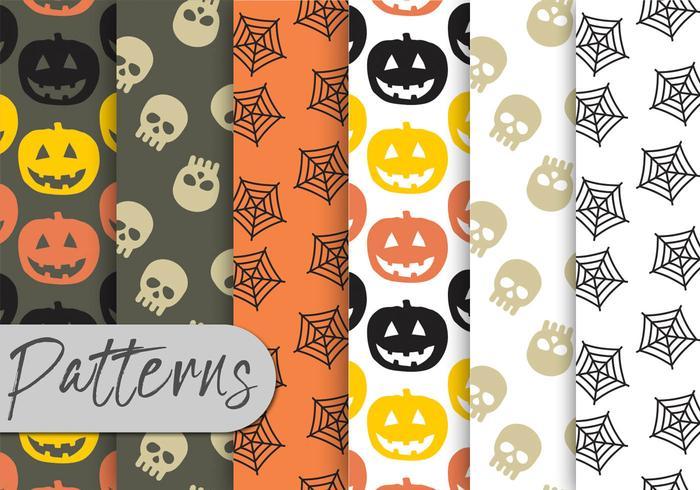 Conjunto de patrones de Halloween