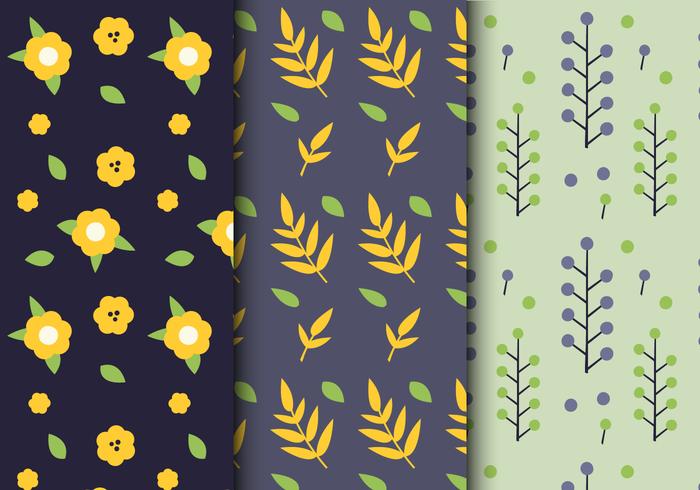 Patrón floral libre de la hoja