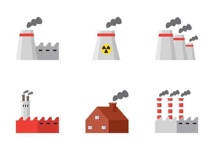 Pilha de fumaça da fábrica